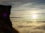 Cliff above clouds